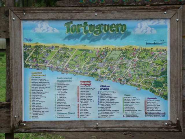 Map of tortuguero