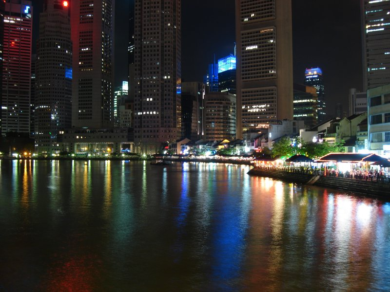 Riverside by Night, Singapore