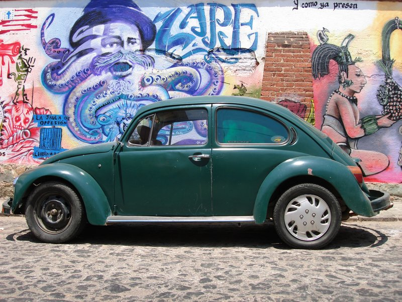 VW Beetle & Graffiti, Oaxaca