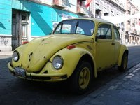VW Beetle Parked on Street in Puebla