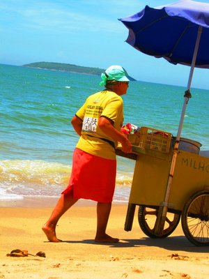 Corn Seller at the beach