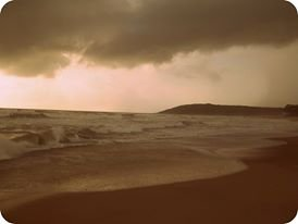 Baga beach by evening