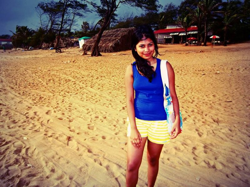 me having good times at Baga beach Goa