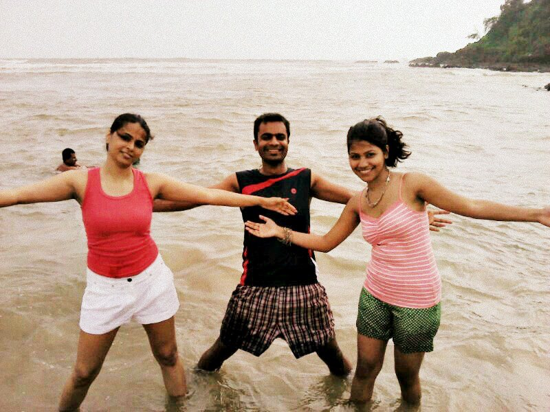 three of us --- bhabhi me ravi
