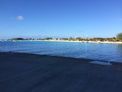 Grand Turk beach next to port
