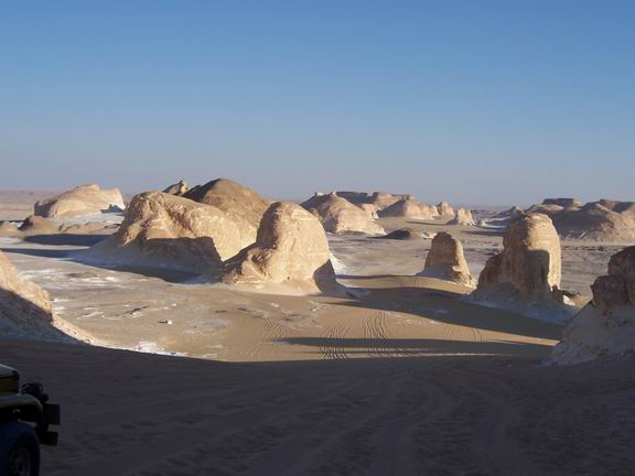 white desert and western desert