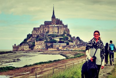 On our way to Mont Saint-Michel