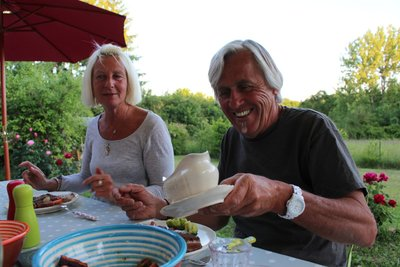 Our dinner guests - Jane and Steve