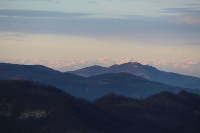 The Alps in the distance from Parma