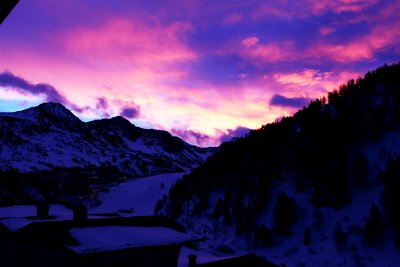 Sunrise in Obertauern on Christmas day