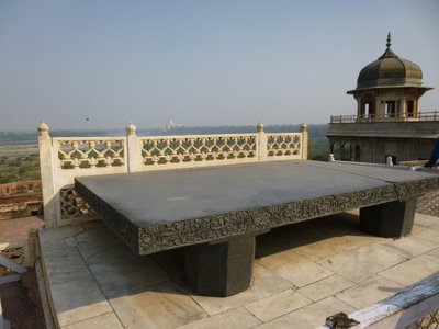 Shah Jahan's elephant fight seat...