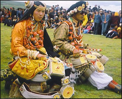 Khampa Tibetans at the Litang Horse Festival