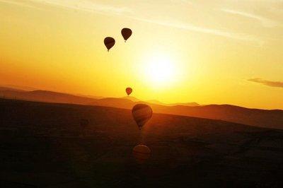 A balloon over Nevsehir, Cappadoccia