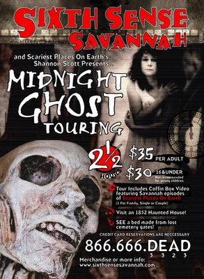 Sixth Sense Savannah Midnight Tour Poster
