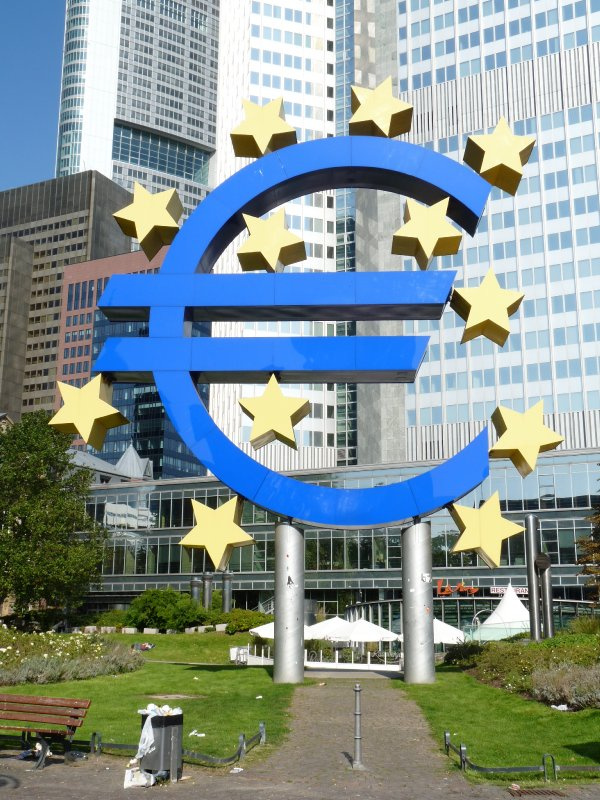 Hub of Finance hence the huge euro!