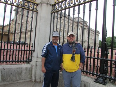 Sherlock with Luis at Buckingham Palace