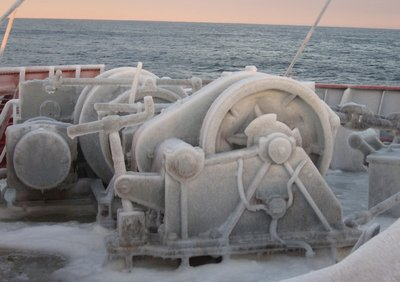 frozen anchor winch