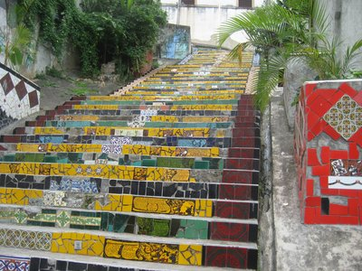 Multi-coloured steeps in Santa Tereasa