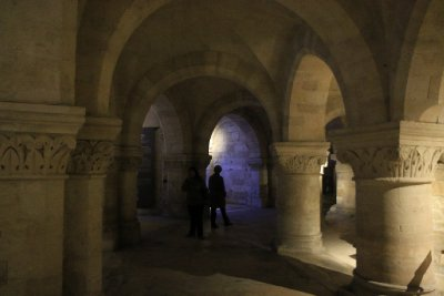Sharon in the crypt of St.-Denis
