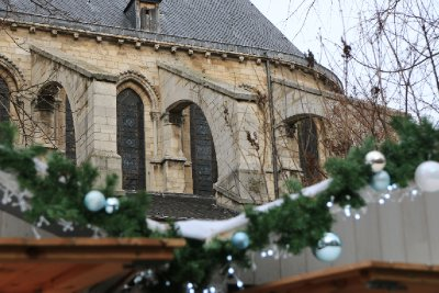 The ubiquitous Christmas market and the ubiquitous church