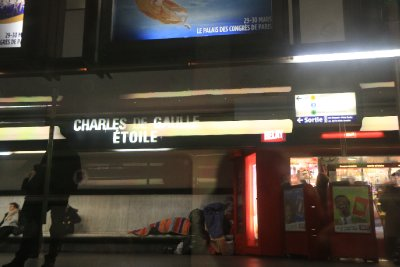 The railway station honouring Charles de Gaul