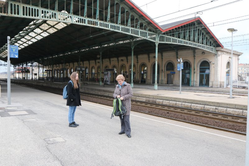 Intrepid Travelers at Gare de Sete