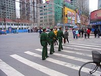 PLA soldiers in Wuhan