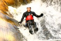 Canyoning at the Falls of Bruar