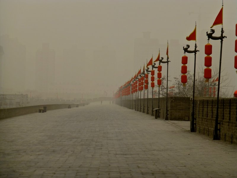 ON THE CITY WALL OF XIAN, CHINA