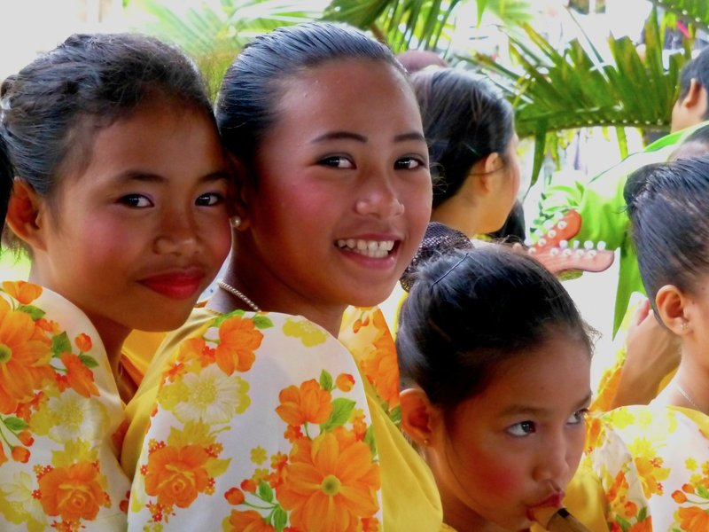 Children entertainers at Bohol, Philippines