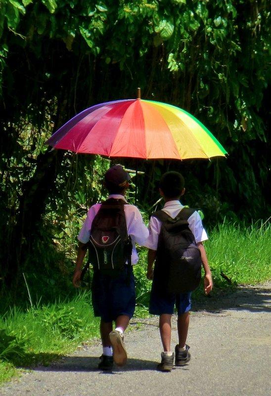 Rain or shine .. an Umbrella does the job
