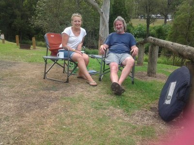 Camping at Sharp Park, Canungra