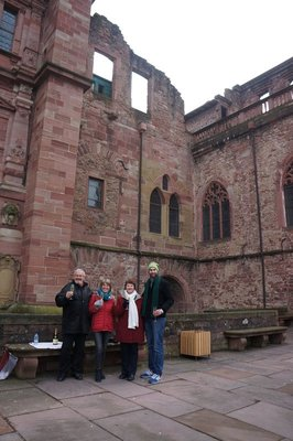 Dieter, Annetta, Olga and Josh in Heidelberg