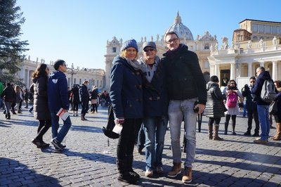 Family pic in Vatican City