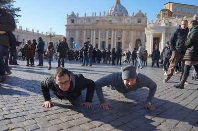 Push-ups in Vatican City - just because