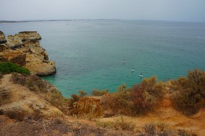 View while on a cliff hike along the Algarve