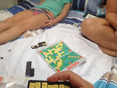 Morning game of scrabble