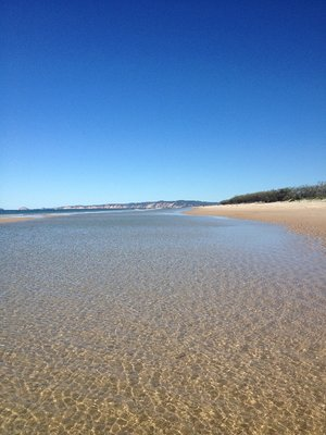 Beach walk at Inskip Point