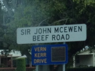 Road sign in Charters Towers