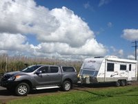 Our rig in the sugar cane fields
