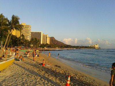 La plage de Waikiki