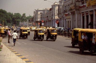 Les rickshaws de Delhi