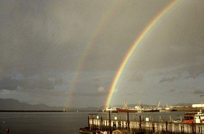 Arc en ciel sur le port
