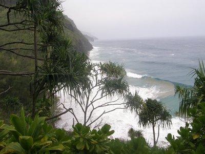 Rouleaux à Hanakapiai beach