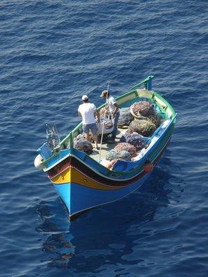 Pêcheurs à Gozo