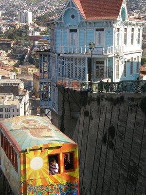 Funiculaire à Valparaiso