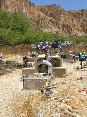Cimetierre dans la Quebrada Palala