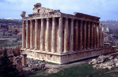 Le temple de Bacchus à Baalbek