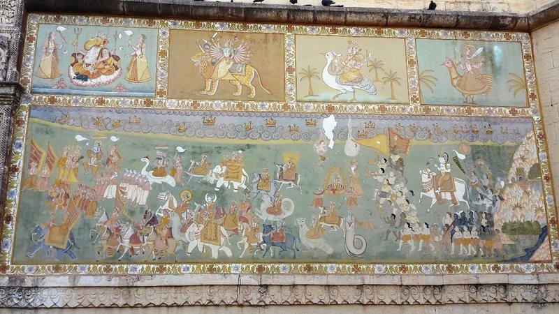 Fresque à l'entrée du fort de Jodhpur