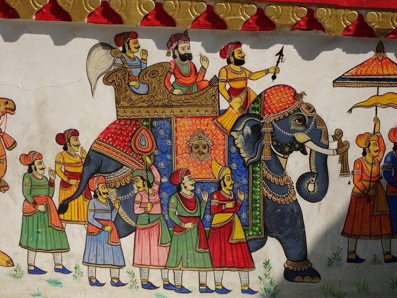 Fresque sur un temple